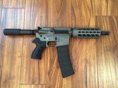 Diamondback Firearms DB15 pistol in tactical gray