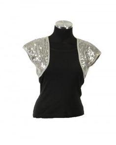 formal boleros and shrugs | Silver Shrug – Best Shrug For Silver Evening Outfits