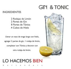 Gin & Tonic - Festejá con Estilo Como preparar un Gin & Tonic de LO HACEMOS BIEN bartenders - How to prepare a Gin & Tonic - Party with style! Fruit Drinks, Bar Drinks, Cocktail Drinks, Yummy Drinks, Healthy Drinks, Alcoholic Drinks, Gin Tonic Receta, Bebida Gin, Alcohol Recipes
