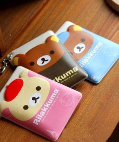 Cute Baby Bear Leatherette Card Holder