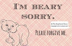 Please Forgive Me :) Im Sorry Cards, Forgive Me, Girlfriends, Boyfriend, Girlfriend Gift, Feelings, Gifts, Gift Ideas, Free Shipping