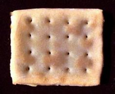 Hardtack is basically a rock-hard biscuit, or a thick cracker. If stored correctly, it could last for years. it was used as a survival food during pioneer migration, the Civil War for soldier's rations, and more.