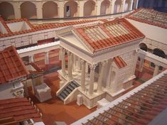 Digital reconstruction of the Temple of Isis at Pompeii.