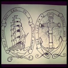 Ship tattoo This would go with my theme that I have going