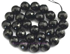 """Cut 128 Faceted Round Natural Onyx 6 8 10 12 14 16mm Gemstone Beads 15"""" 