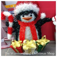 Penguins safe and happy getting ready for Christmas with oddballs help of course that could be the sequel yeh I think I could be onto something anybody got Shane Jacobsens number....#penguins#oddball #shop3280 #warrnambool #warrnambool3280 #warrnamboolchristmasshop #lightup by warrnambool_christmas_shop