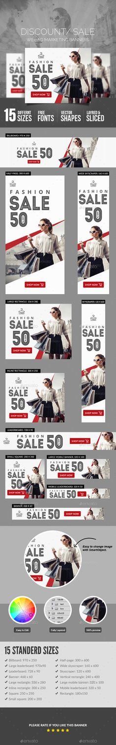 Sales Banners — Photoshop PSD #shopping #sign • Download ➝ https://graphicriver.net/item/sales-banners/18936823?ref=pxcr