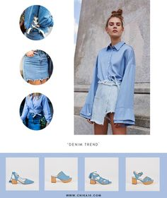 Denim Button Up, Button Up Shirts, Outfits, Tops, Fashion, Latest Trends, Women, Clothes, Moda