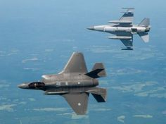 F-35 Lightning II with F-16 Fighting Falcon