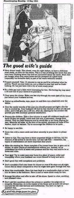 1955 - La guía de la buena esposa...