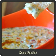 Queso Fundido—A must have app for Cinco de Mayo! Even the kids will be gobbling this up.