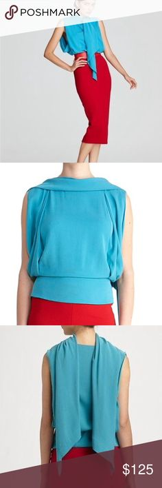 DVF Runway Blouse - 6 Rare & Gorgeous. Can wear multiple ways. Color is stunning! No trades please, thx! 💕 Diane von Furstenberg Tops Blouses