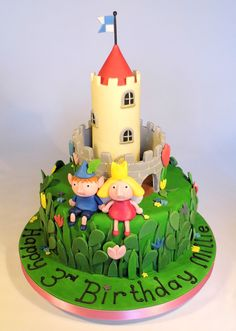 Ben and Holly birthday cake by Helen Brown Cakes www.facebook.com/helenbrowncakes