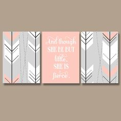 Arrow Boho Tribal Nursery Decor, Girl Tribal Boho Nursery Wall Art, Girl Nursery Quote Canvas or Prints But Little She is Fierce, Set of 3 – 2019 - Nursery Diy Boho Nursery, Tribal Nursery, Nursery Canvas, Diy Canvas, Nursery Wall Art, Girl Nursery, Nursery Decor, Arrow Nursery, Nursery Modern