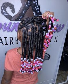 Check out 50 cute and easy kids braided hairstyles with beads perfect for school or the holidays. Cute Girls Hairstyles, Braided Hairstyles For Black Women, Black Women Hairstyles, Kids Braids With Beads, Braids For Kids, Bohemian Locs, Single Braids, Goddess Locs, Hair Beads