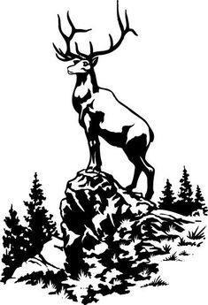 Clipart of illustration, lineart, animal, elk, deer . Stencil Animal, Deer Stencil, Stencil Art, Stenciling, Custom Photo Albums, Personalized Photo Albums, Silhouette Clip Art, Moose Silhouette, Motifs Animal