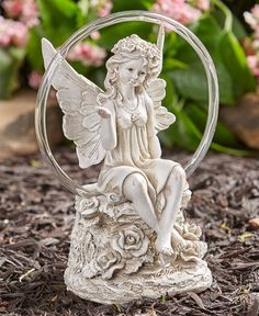 Collections Etc Hand-Painted Copper Finish Children with Solar Gazing Ball Ball Automatically Shines at Night Resin Crafted with Intricate Detail