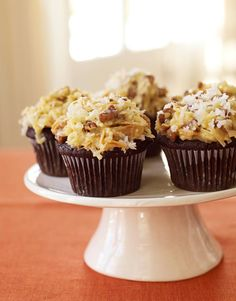Ina Garten German Chocolate Cake | INA GARTEN'S GERMAN CHOCOLATE CUPCAKES. Makes 14 cupcakes [no milk ...