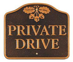 Whitehall Acorn Private Drive Statement Plaque