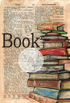 PRINT: Book Mixed Media Drawing on Distressed, Dictionary Page – Best Books Kunstjournal Inspiration, Art Journal Inspiration, Book Page Art, Book Pages, Artist's Book, Art Journal Pages, Art Journals, Altered Books, Altered Art