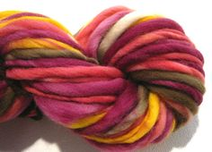 thick and thin bulky handspun yarn by SpinningWheelStudio on Etsy, $20.00