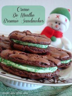 Dessert Now, Dinner Later!: Creme De Menthe Brownie Sandwiches