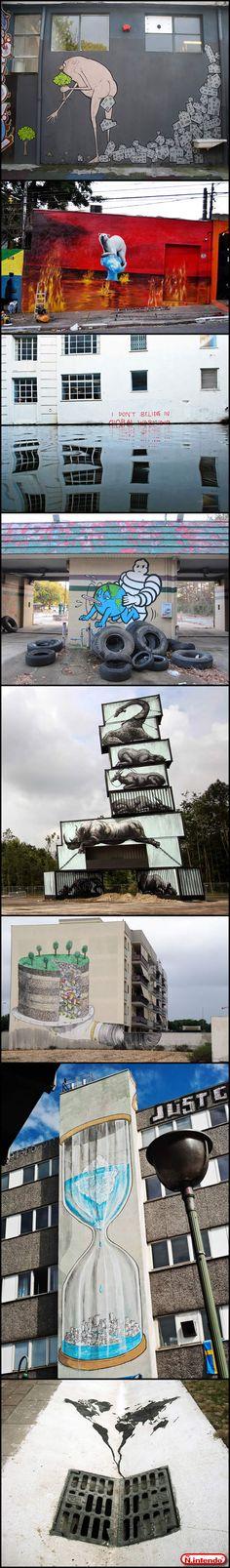 Arte Em Regiões Urbanas Mostram Como Estamos Destruindo o Mundo