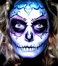 Halloween sugar skull www.facebook.com/chellebeautiful