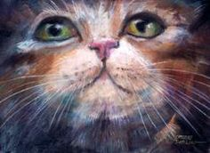 """""""Cat Face"""" by Catherine Darling Hostetter"""