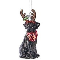 noble gems black labrador retriever ornament - Black Lab Christmas Ornament