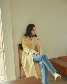 Hanging Wardrobe, Fall Winter Outfits, Duster Coat, Actresses, Female, Lady, Pretty, Jackets, Korean
