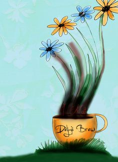 May 1st again. I am feeling Deja Brew today. May flowers - Did I do this before? What my #coffee says to me May 1st - Deja Brew or Deja infusion!
