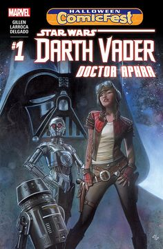 When a Dark Lord needs help, who can he turn to? Meet Aphra, the galaxy's foremost raider of lost weaponry! Plus: could these be the deadly droids she's looking for?