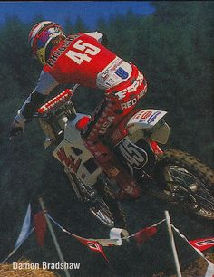 Damon Bradshaw   Flickr - Photo Sharing! Yamaha Motocross, Motocross Love, Motocross Riders, Vintage Motocross, Dirt Bike Racing, Off Road Racing, Dirt Biking, Motorcycle, Beast From The East