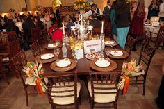 mesa da família dos noivos