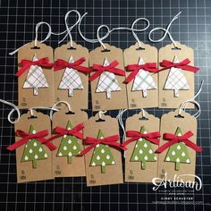Fancy Friday – Quick & Easy Christmas Tags – New Year Homemade Christmas Cards, Easy Christmas Crafts, Christmas Gift Wrapping, Handmade Christmas, Diy Christmas Gift Tags, Christmas Tree Cards, Christmas Christmas, Christmas Presents, Holiday Cards