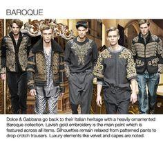 BAROQUE - fw aw 13 14_Fashion Color Trend_2 Mens heavy emblishments