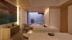 Aman Spa Treatment Room at Amanzo'e Resort, Porto Heli, Kranidi, Greece Luxury Beach Resorts, Luxury Spa, Spa Luxe, Spa Treatment Room, Spa Lighting, Spa Rooms, Hotels, Spa Design, Beautiful Homes