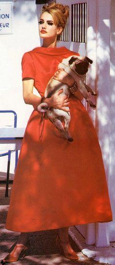 """KAREN MULDER """"Flamboyant""""Vogue Italia October 1991 Photos: Ellen Von Unwerth"""