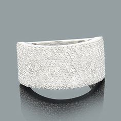 This Pave Diamond Band in gold weighs approximately 6 grams and showcases carats of genuine diamonds. Featuring a wide design and a highly polished gold finish, this diamond ring makes a unique diamond wedding band and is available in white, Buy Diamond Ring, Diamond Bands, Diamond Wedding Bands, Diamond Jewelry, Unique Rings, Beautiful Rings, Real Gold Jewelry, Jewlery, Best Friend Jewelry