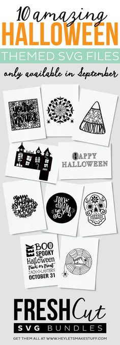 Get this spooky bundle of TEN Halloween cut files before they're gone for good! This limited edition bundle is only available for the month of September for a fraction of its retail value.