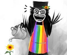 This horrifying monster is now a heartwarming LGBT meme · PinkNews Overwatch, The Babadook, Horror Icons, Funny Vid, Nightmare On Elm Street, Science Fiction, Lgbt, Lesbian, Novels