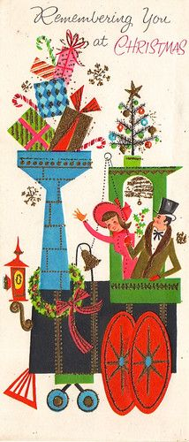retro n lovely Christmas Train, Old Christmas, Old Fashioned Christmas, Retro Christmas, Christmas Crafts, Vintage Greeting Cards, Christmas Greeting Cards, Christmas Greetings, Vintage Postcards