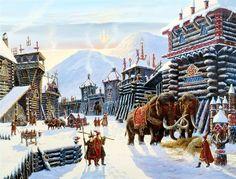 Русский сказочный город зимой