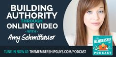 In this episode of the podcast I'm joined by Amy Schmittauer to talk about how you can build authority by incorporating video into your marketing strategy. Online Courses, Amy, Channel, Author, Online Video, Teaching, Marketing, Videos, Building
