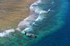 Shipwreck off the coast of Pago Pago American Samoa