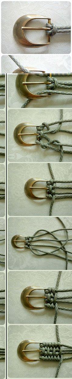 cinturón: hecho con cuerdas. nudo plano:                                                                                                                                                                                 Más