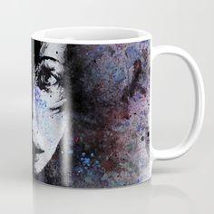 """My Great Devastator"" mugs • SHOP: https://society6.com/product/my-great-devastator_mug#27=199 • #art #painting #portrait  #girl #black #blue #red #mug #mugs #graffiti #modernart #artforsale #kissmyart #spraypaintart #eyes #abstract #surreal #beauty #graffitiart #originalpainting #femaleportrait #girl #society6 #stampa #print #tazza #tazzina #decorazione"