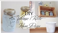 Vintage/Rustic Inspired DIY Room Decor  Home Decor