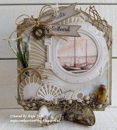 Hallo allemaal, Een verjaardagskaart met het nautische thema die zijn zo leuk om te maken vind ik. Craftable CR1408 Card st...